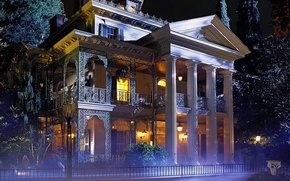 Picture house, the evening, house, haunted, New Orlean, Mansion
