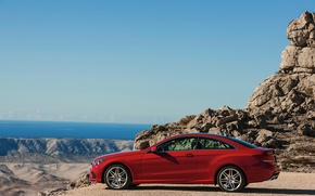 Picture red, Mercedes-Benz, E-Class, Mercedes, Coupe, 2014, E 500