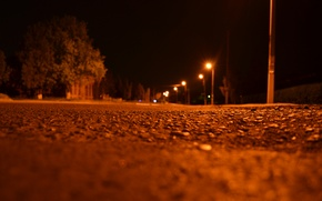 Picture night, street, lights