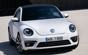 Picture white, Volkswagen, stylish, Beetle R