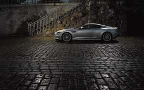 Picture The evening, Aston-Martin, Pavers