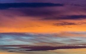 Picture colorful, twilight, sky, sunset, pink, clouds, orange, dusk, purple