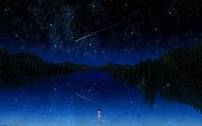 Wallpaper the sky, star., Darker than black