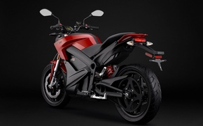 Picture metal, bike, beautiful, motorcycle, gray, strong, mirrors, tires, bold design, adventurous, bumper, comfortable, tough, Zero …
