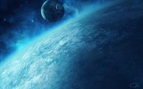 Picture planet, satellite, the atmosphere, art, QAuZ