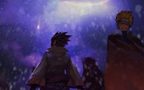 Picture night, friends, naruto, art, Uzumaki naruto, naked sasuke