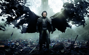 Wallpaper Action, Dracula, Wings, Vampire, Cloak, Drama, Sword, Horror, Red, War, 2014, Luke Evans, Wallpaper, Fantasy, ...