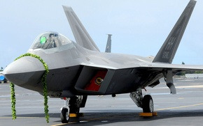 Picture fighter, Parking, the plane, the airfield, Raptor, Hawaii, the ceremony, f-22, arrival, pearl Harbor