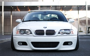 Picture tuning, BMW, White, White, E46, stance