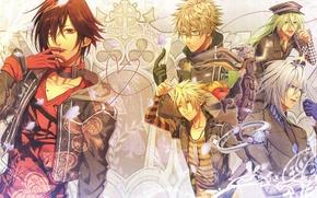 Picture petals, ring, horns, guys, vegetables, Amnesia, Shin, Orion, Amnesia, Kent, Toma, Ikki