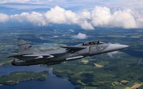 Picture landscape, fighter, multipurpose, Gripen, CAN JAS 39