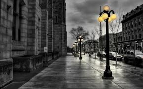 Picture light, street, lantern