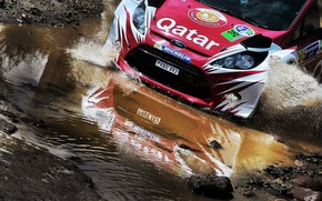 Picture Ford, Reflection, Stones, Squirt, WRC, Rally, Fiesta, Ford