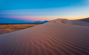 Picture sunset, mountain, sand, usa, nevada, armagosa dunes