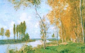 Picture landscape, picture, Claude Monet, Spring in Arachnee
