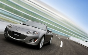 Wallpaper road, speed, Mazda