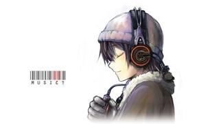 Picture Music, headphones, face