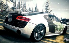 Picture Audi R8, Drift, Race, Mountain, Road, NFS Rivals Wallpaper