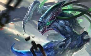 Picture monster, hon, art, Heroes of Newerth, Aegis, liquid metal