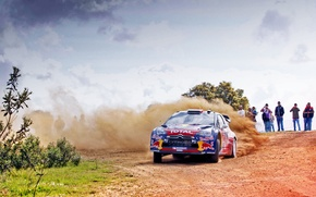 Picture Dust, Machine, People, Turn, Citroen, Skid, Day, Citroen, DS3, WRC, Rally, Rally