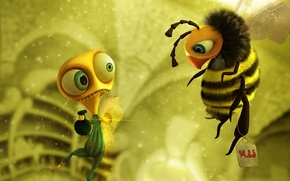Wallpaper figure, mood, bee