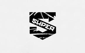 Picture background, minimalism, letter, super