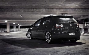 Picture garage, City, cars, auto, Golf, gti, wallpapers auto, Wallpaper HD, Parking, Volkswagen golf, tuning auto
