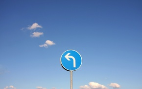 Picture the sky, sign, turn