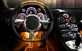 Picture auto, design, panel, devices, the wheel, sports car, salon, Mansory, Bugatti Veyron 16.4 LINEA Vincero …