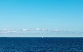 Picture sea, the sky, boat, sail