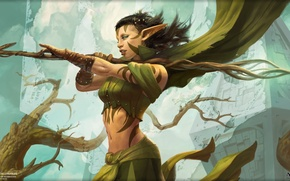 Picture MAG, Magic The Gathering, Planeswalker, Nyssa We We, Nissa Revane