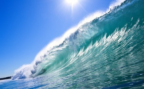 Picture sea, wave, summer, water, squirt, nature, the ocean, landscapes