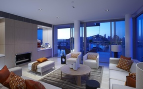 Picture design, the city, style, room, interior, living space