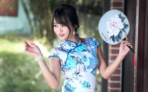 Picture face, style, dress, Asian