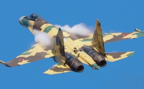 Picture flight, the plane, su-35, aviso