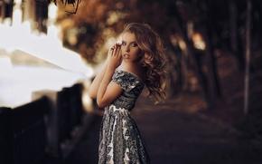 Wallpaper portrait, dress, bokeh, Karen Abramyan