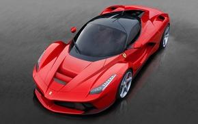 Picture Ferrari, red, Supercar, the dark background