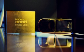 Picture phone, classic, Edition, Nokia 8800, Nokia, slider, Sirocco Gold