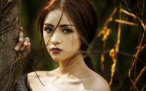 Picture beautiful, female, Vietnamese model