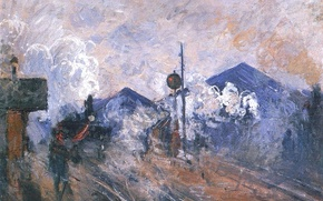 Picture picture, Claude Monet, genre, The exit of the Station Saint-Lazare
