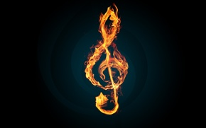 Picture fire, flame, music, key, melody, Violin