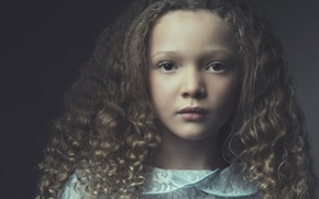 Picture portrait, girl, curls, Berkeley Clayborne