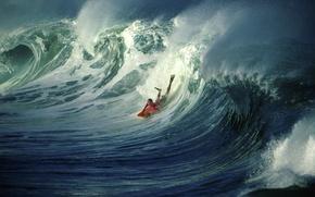 Picture movement, wave, surfer