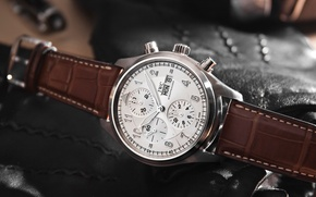 Picture brown, watch, IWC