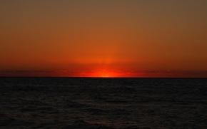 Picture sea, sunset, night