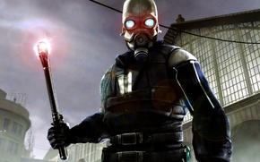 Picture Half-life, Half-life 2, harvester, City 17, corrected, Combine, metro police
