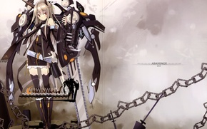 Picture Girl, Rock, Dress, Clothing, Weapons, Stockings, Chain, Boots, Mechanism, Saw, Scarf, Labels, Poco, Mecha Musume, …