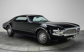 Picture background, black, the front, 1968, Muscle car, Muscle car, Oldsmobile, The Oldsmobile, Toronado, Toronado