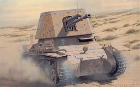 Picture War, Desert, German, Panzerjäger I