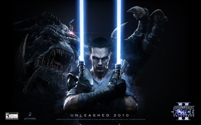 Picture swords, Jedi, Star wars, FORSE UNLEASHED 2